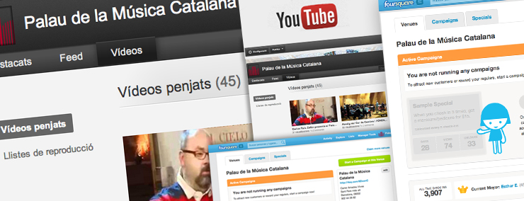 YouTube Foursquare Palau de la Música Catalana