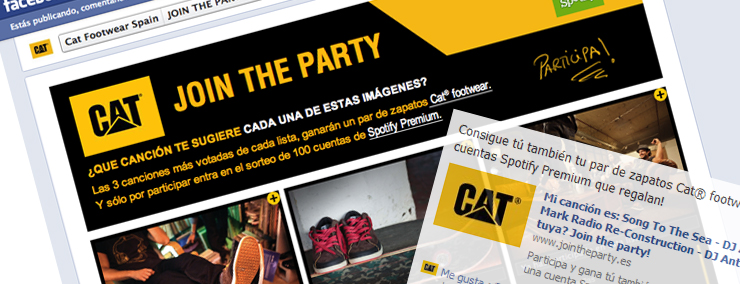 Aplicación de Facebook Cat® Footwear Spain - Spotify